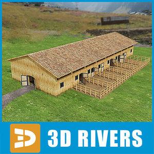 3d model barn equestrian