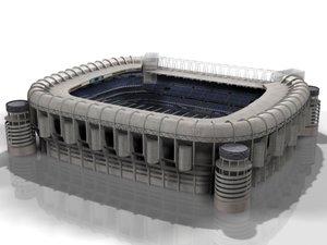 santiago bernabeu stadium 3d model