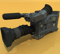 digital betacam camera 3d model