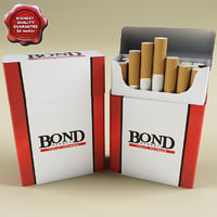 bond cigarettes 3d model