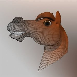 cartoon horse head 3ds