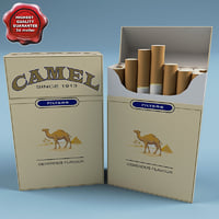 camel cigarettes 3d model