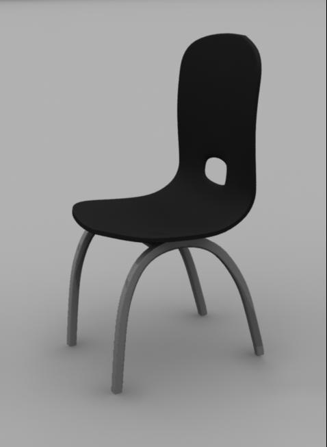 black chair 3d obj