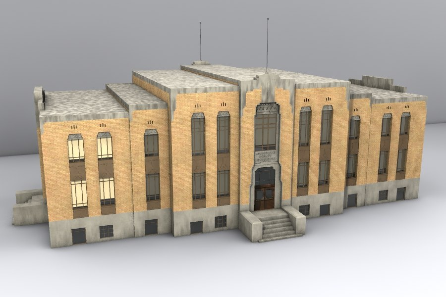 3d model courthouse