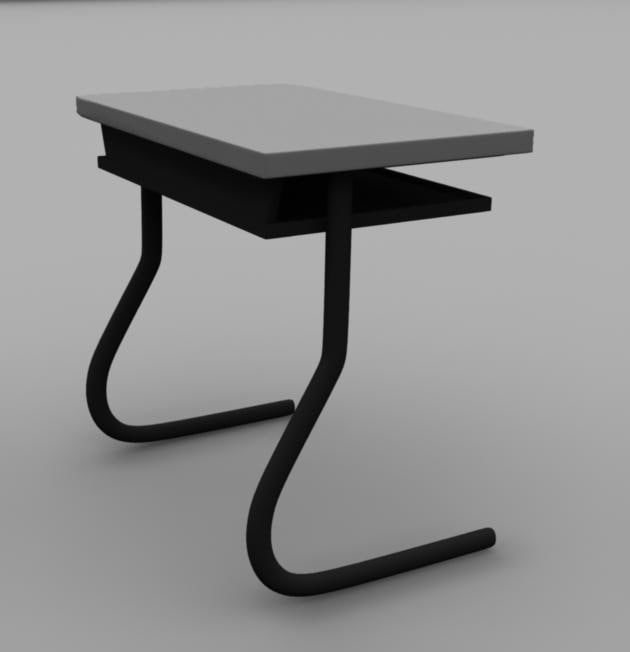 school desk obj