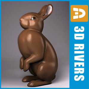 3d easter bunny
