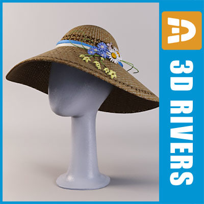 easter bonnet 3d model