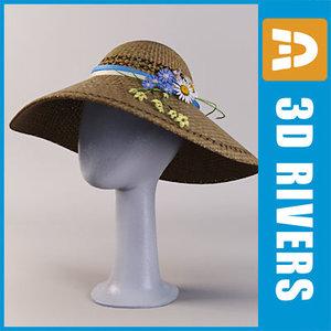 easter bonnet 3d model