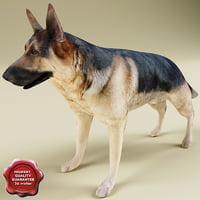 german shepherd click 3d 3ds