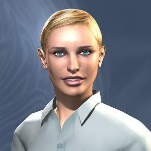 woman elena 3d model