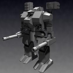 3d mech warrior model