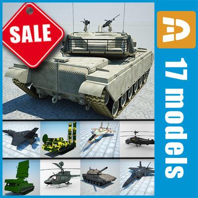 3d model military machines