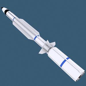 rim-161 sm-3 missile 3d model