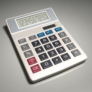 calculator number decimal 3d max