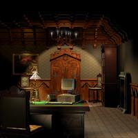 studio scene 3d model