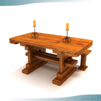Rustic Old World Style Dinner Table