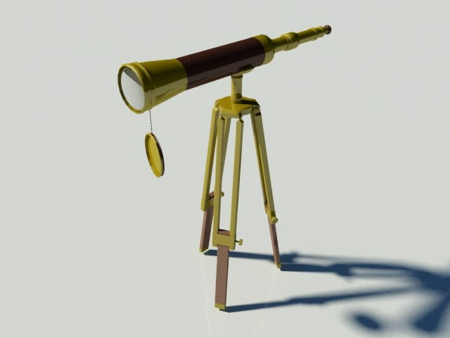 3ds max telescope spy glass