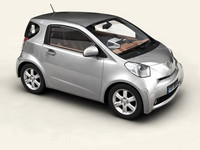 toyota iq car 3d model