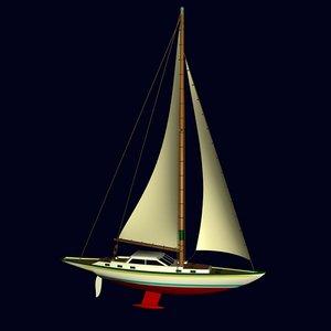 racing yacht 3d model