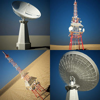 3d radio communication tower model