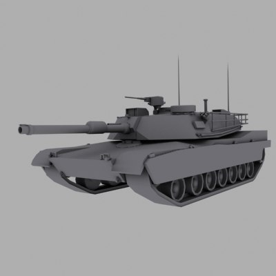 m1a1 abrams battle tank 3d model
