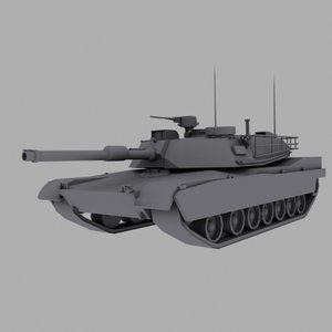 m1a1 abrams battle tank 3d model