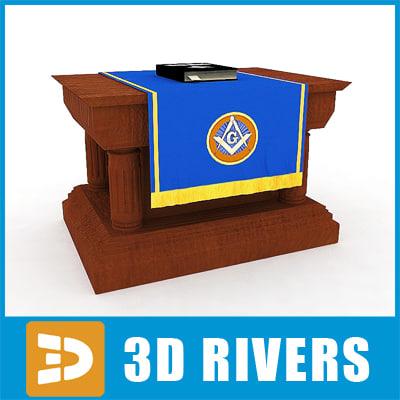 3d model masonic altar bible