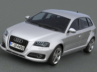 3d model audi a3 sportback 2009