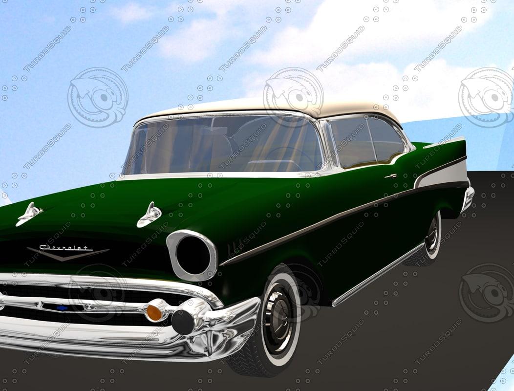 3d 1957 chevy model