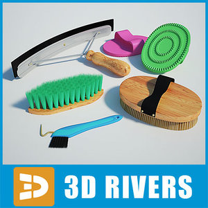 3d model horse brushes