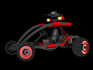 3d sporty dune buggy model
