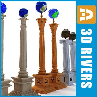mason columns obj