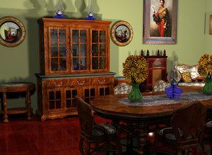 diningroom table 3d model