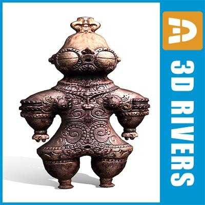 3d dogu traditional japanese model