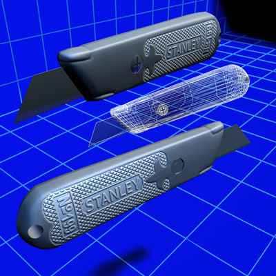 drywall knife 01 3d 3ds