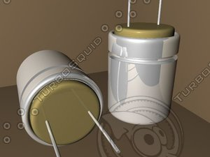 electrical capacitor 3d 3ds