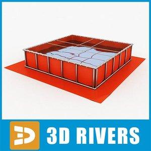 flexible water tank 3d 3ds
