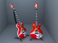 3d model gibson guitar
