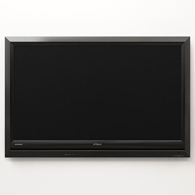 hitachi ultravision lcd television 3d model