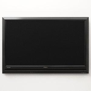 hitachi ultravision lcd television 3d model