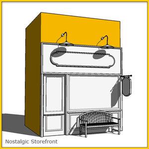 storefront whitebox 3d 3ds