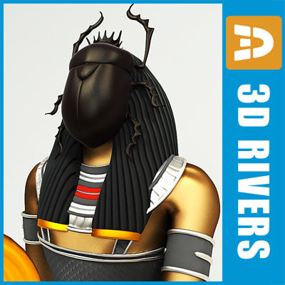 3d god khepri model