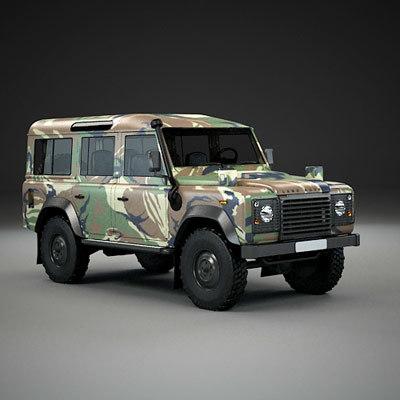 3d model 110 army