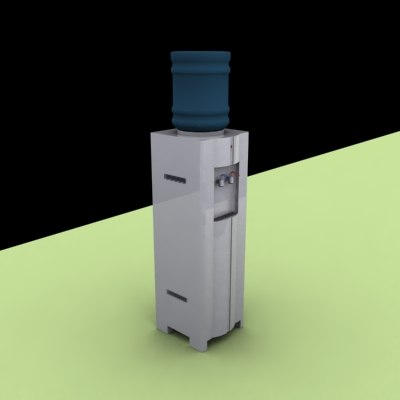 3ds max refrigerator water