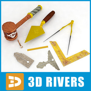 3d masonic tools model