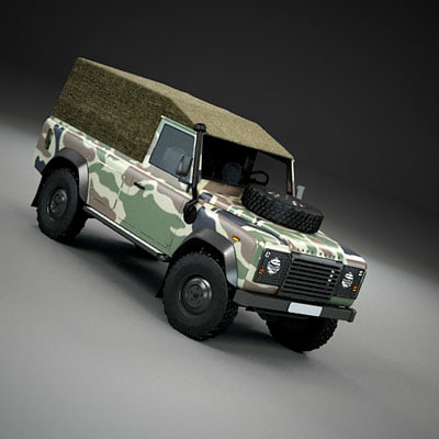 3d model pickup military