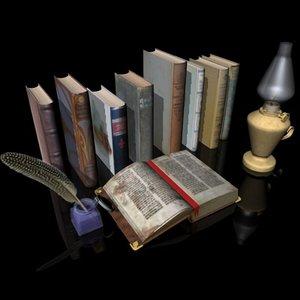 3d model open book old