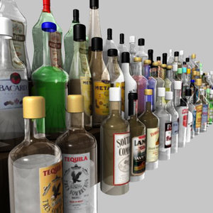 3d model spirit bottles