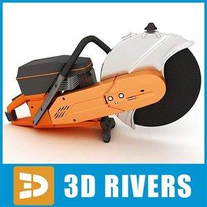 3d circular rescue saw model