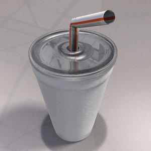 free obj model styrofoam cup
